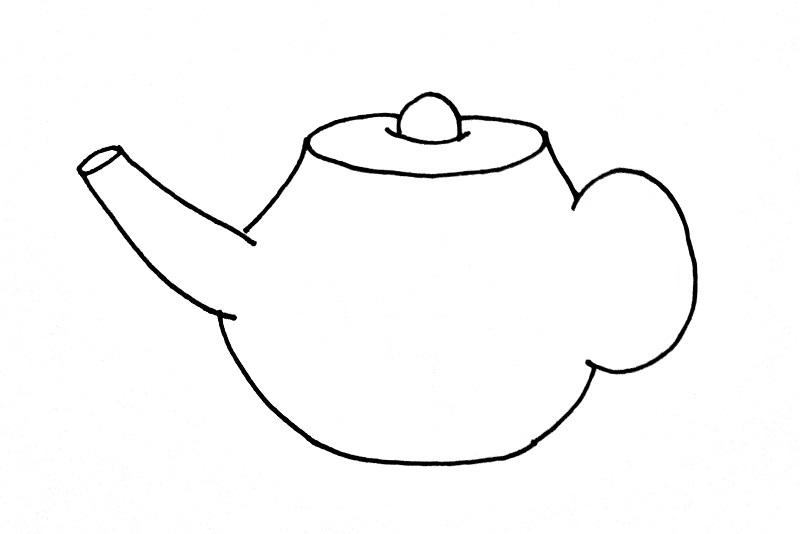 How To Draw A Tea Pot Step 5