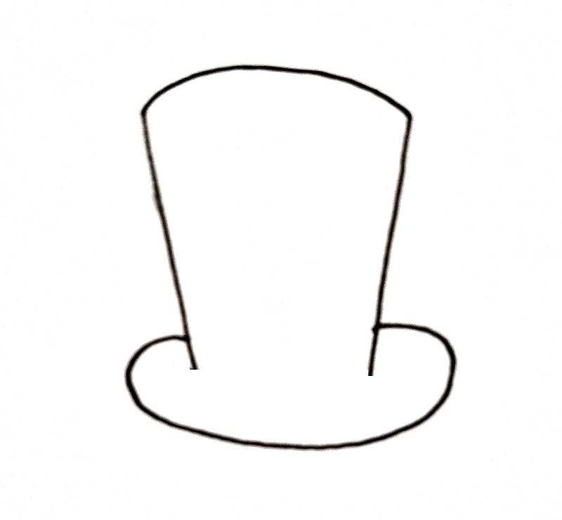 How To Draw A Top Hat Step 3