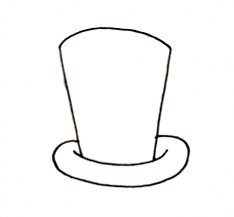 How To Draw A Top Hat Step 4