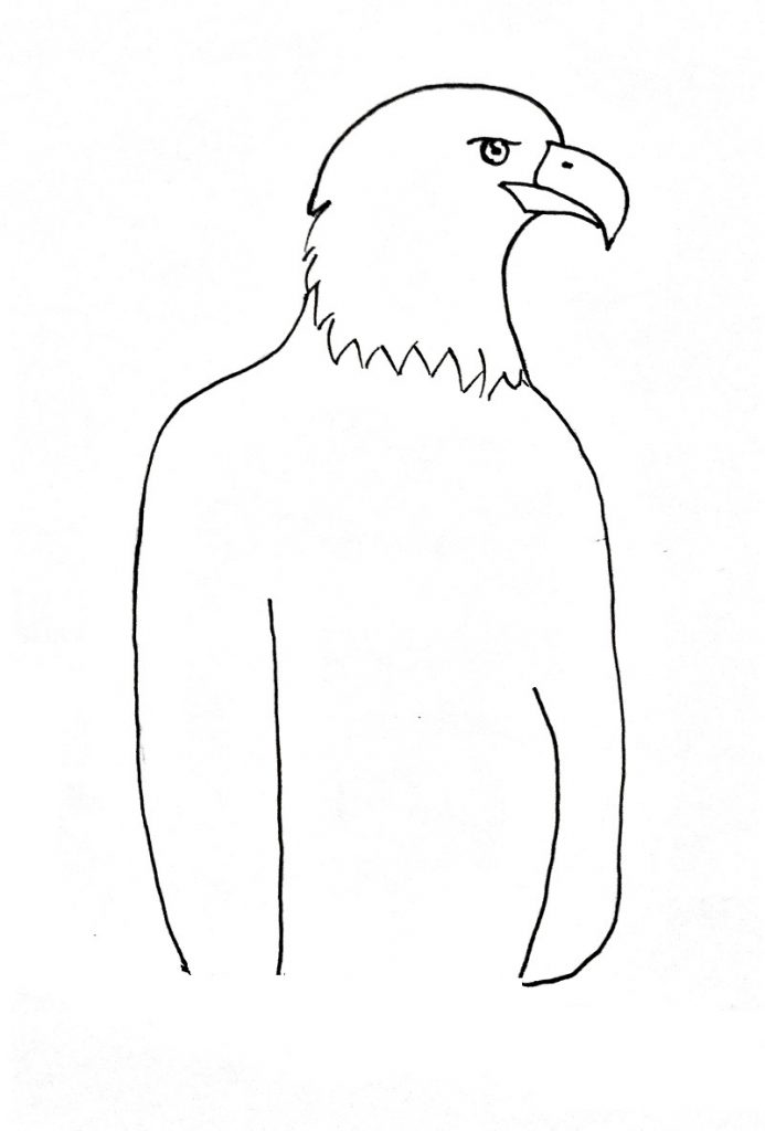 how to draw an eagle step 5