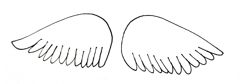 How To Draw Angel Wings Step 4