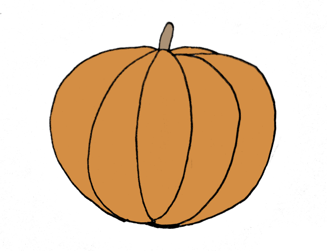 How To Draw A Pumpkin Step 6