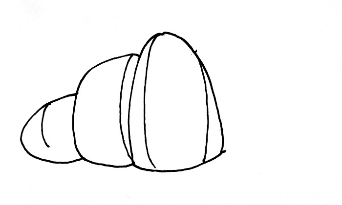 How To Draw A Croissant Step 4