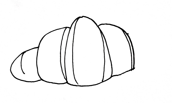 How To Draw A Croissant Step 5