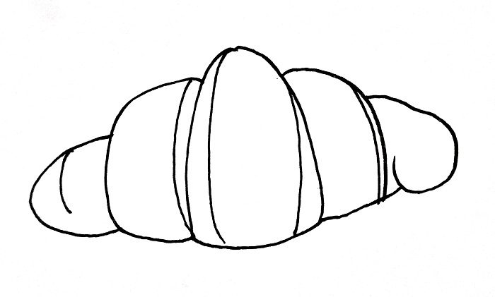 How To Draw A Croissant Step 6