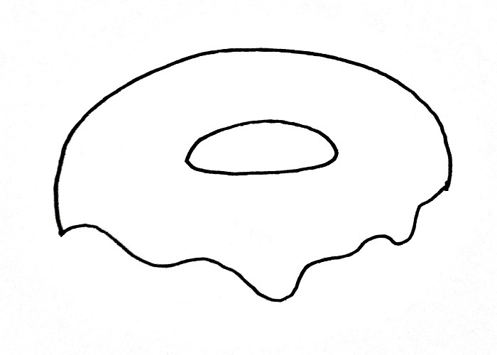 How To Draw A Donut Step 3
