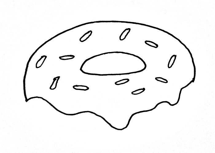 How To Draw A Donut Step 4
