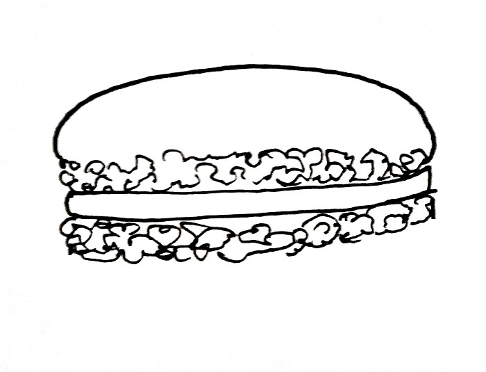 How To Draw A Macaron Step 3