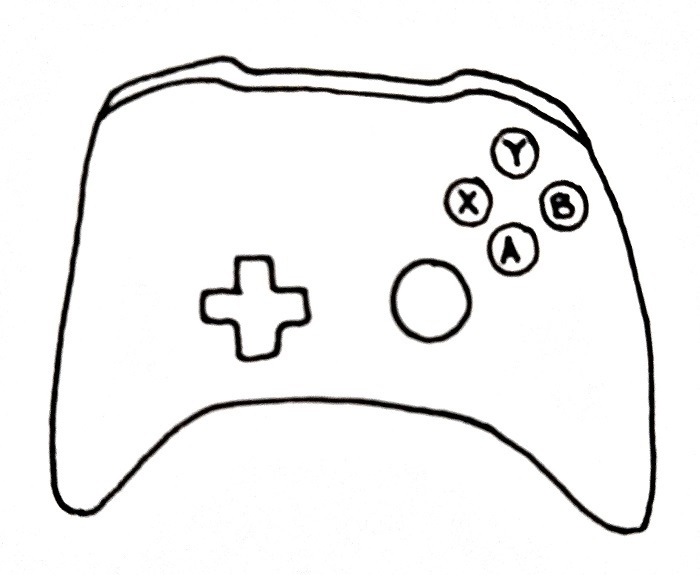 How To Draw An Xbox Controller Step 6