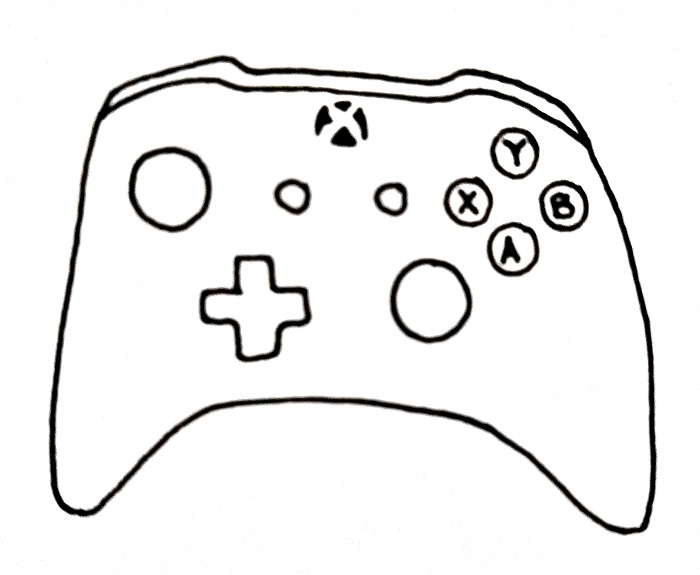 How To Draw An Xbox Controller Step 7