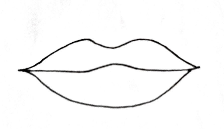How To Draw Lips Step 4