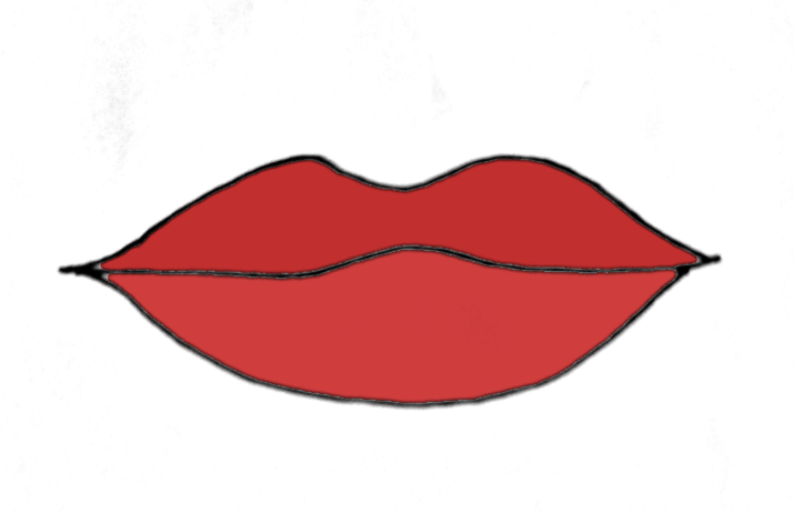 How To Draw Lips Step 5