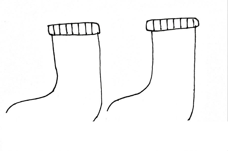 How To Draw Socks Step 3