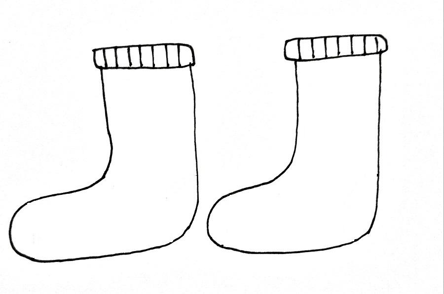 How To Draw Socks Step 4