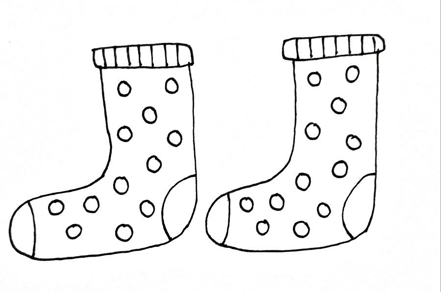 How To Draw Socks Step 6
