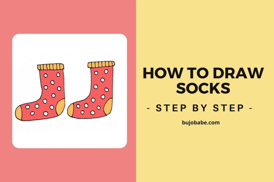 how to draw socks step by step