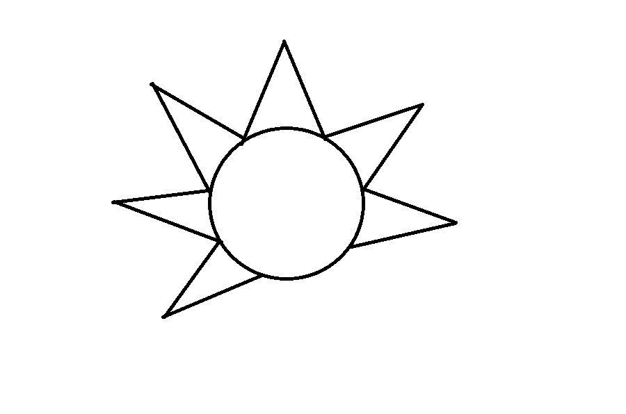 How To Draw The Sun Step 5
