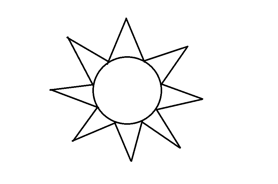 How To Draw The Sun Step 6