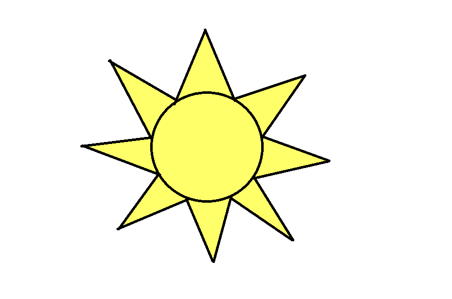 How To Draw The Sun Step 7